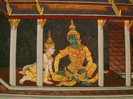 Asisbiz Grand Palace Gold leaf Buddhist artwork Bangkok Thailand 39