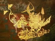 Asisbiz Grand Palace Gold leaf Buddhist artwork Bangkok Thailand 41