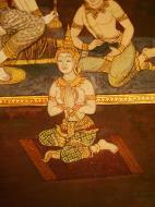 Asisbiz Grand Palace Gold leaf Buddhist artwork Bangkok Thailand 44