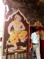 Asisbiz Grand Palace temple doors Gold leaf Buddhist paintings Bangkok Thailand 01