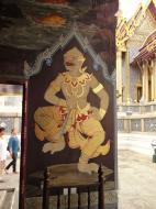 Asisbiz Grand Palace temple doors Gold leaf Buddhist paintings Bangkok Thailand 02