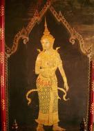 Asisbiz Grand Palace temple doors Gold leaf Buddhist paintings Bangkok Thailand 11
