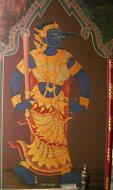 Asisbiz Grand Palace temple doors Gold leaf Buddhist paintings Bangkok Thailand 13