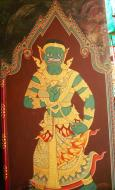 Asisbiz Grand Palace temple doors Gold leaf Buddhist paintings Bangkok Thailand 14