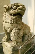 Asisbiz Chinese Lion statues Bangkok Thailand 08