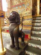Asisbiz War bounty Cambodian Bronze Lion guardian statue Bangkok Thailand 10