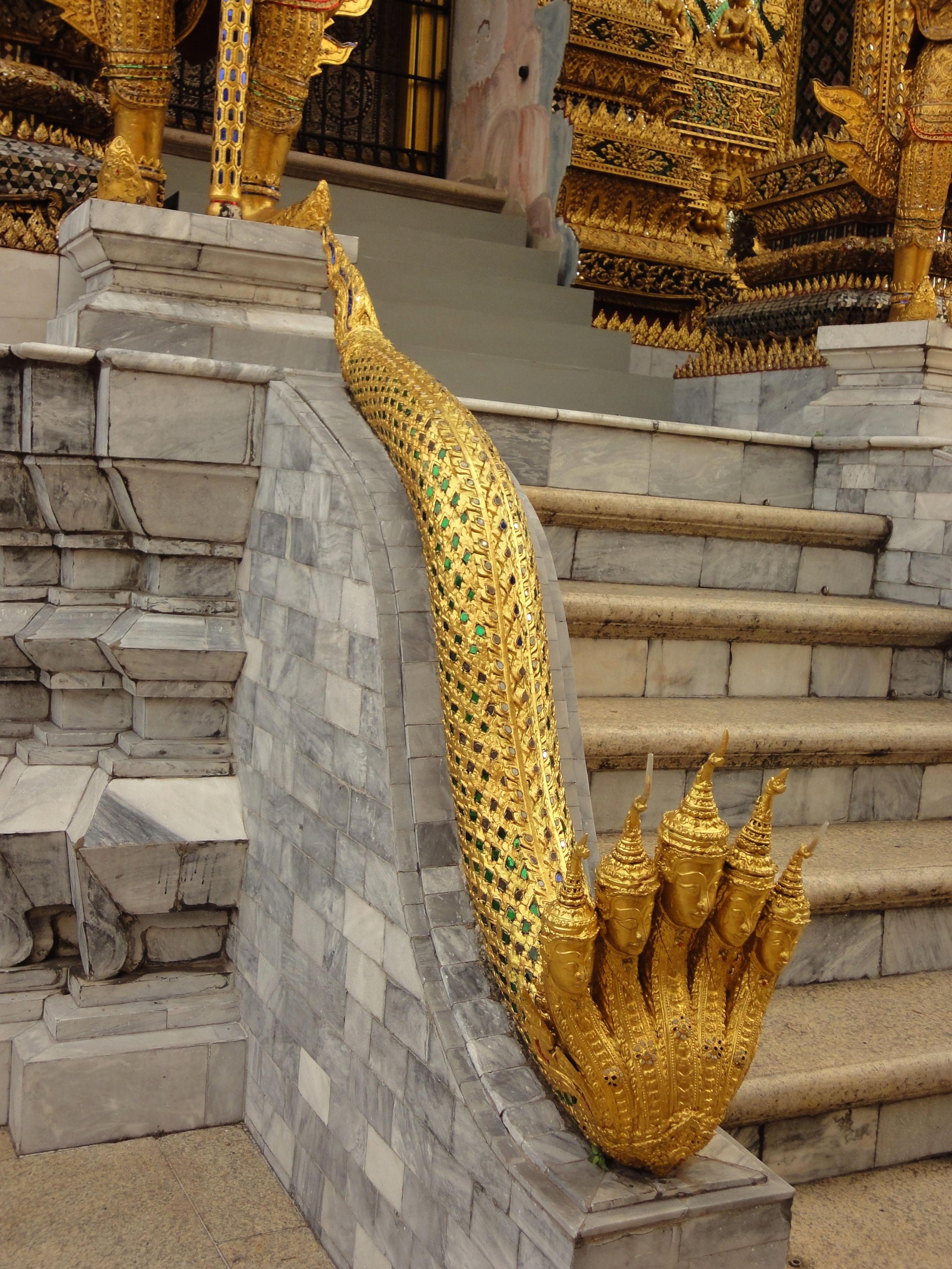 07 Phra Mondop dragon stairs Grand Palace Bangkok 2010 02