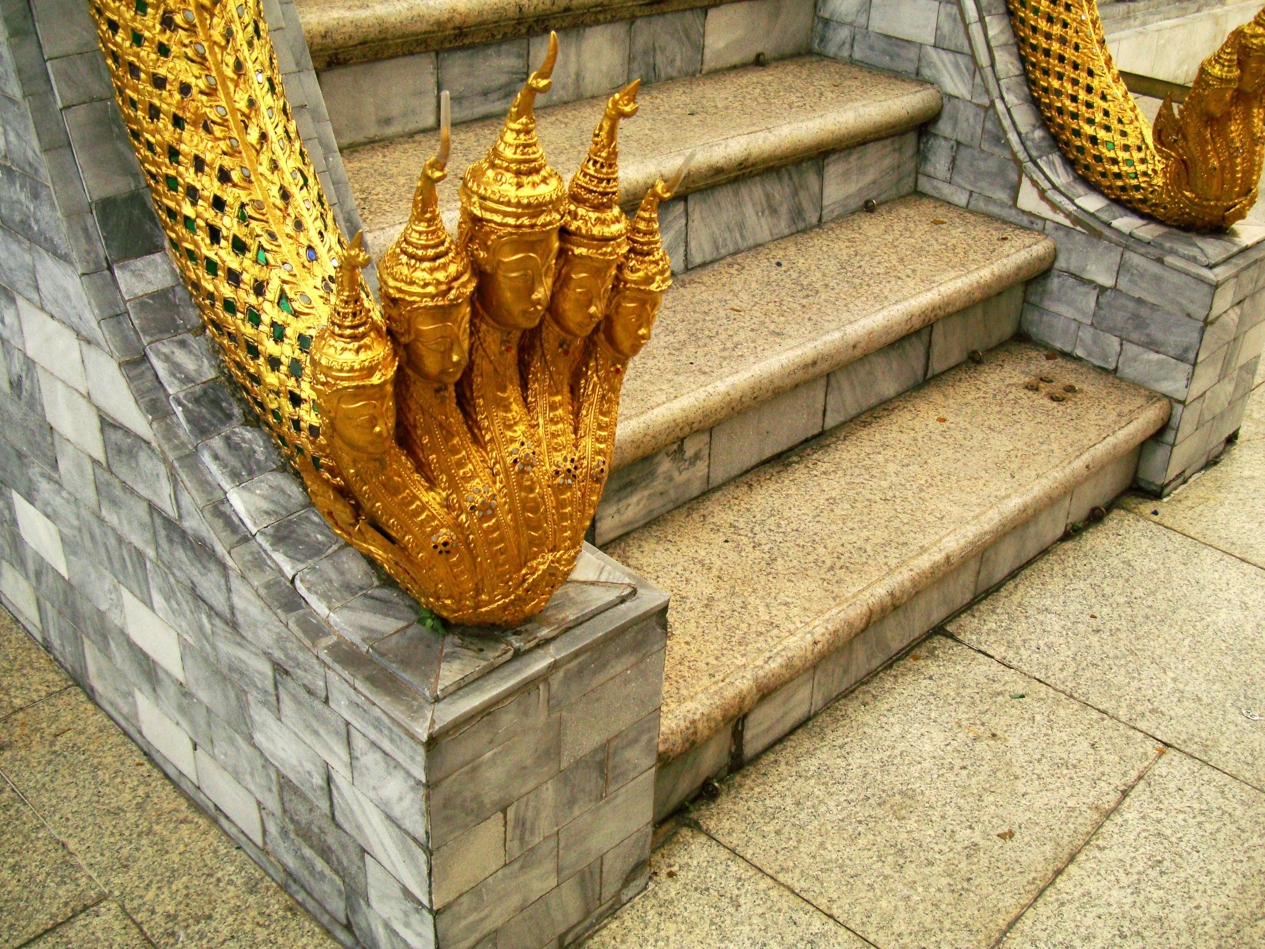 07 Phra Mondop dragon stairs Grand Palace Bangkok 2010 04