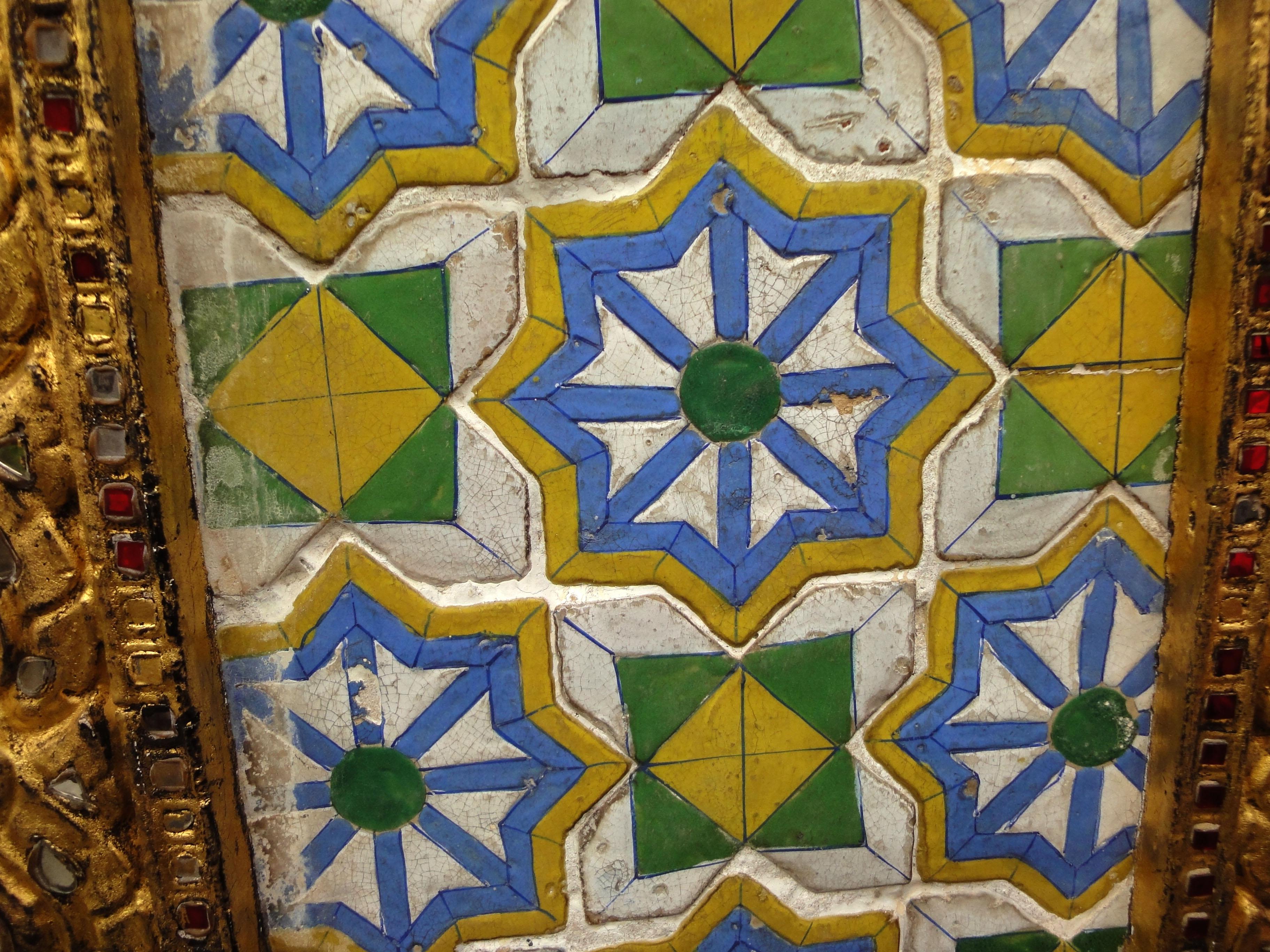 Grand Palace beautifully designed Chinese Mosaic tiles Bangkok Thailand 01
