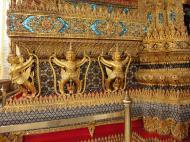 Asisbiz 10 Temple of the Emerald Buddha intercrit designed walls pillars Grand Palace 01
