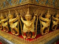 Asisbiz 10 Temple of the Emerald Buddha intercrit designed walls pillars Grand Palace 03