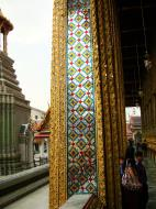 Asisbiz 10 Temple of the Emerald Buddha intercrit designed walls pillars Grand Palace 11