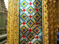 Asisbiz 10 Temple of the Emerald Buddha intercrit designed walls pillars Grand Palace 12