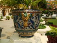 Asisbiz Grand Palace beautifully designed Chinese Mosaic flower pots Bangkok 02