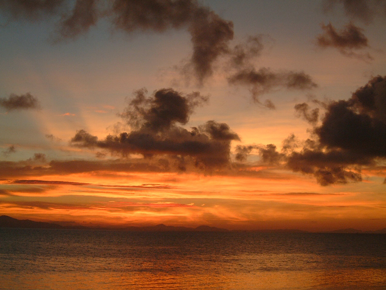 Thailand Phi Phi Island panoramic scenes Sunrise Apr 2003 01