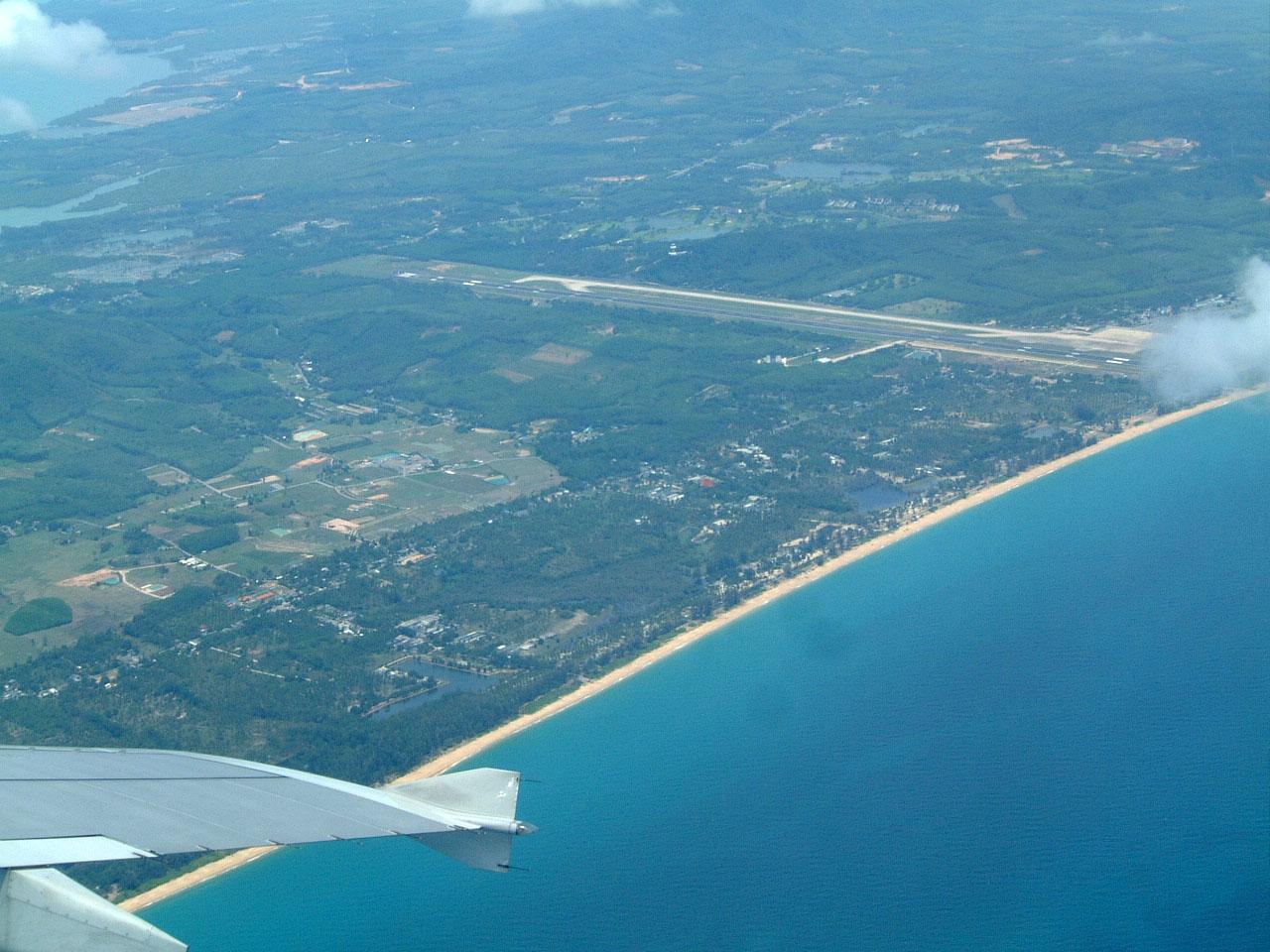 Thailand Aerial view of Phuket International Airport Apr 2003 01