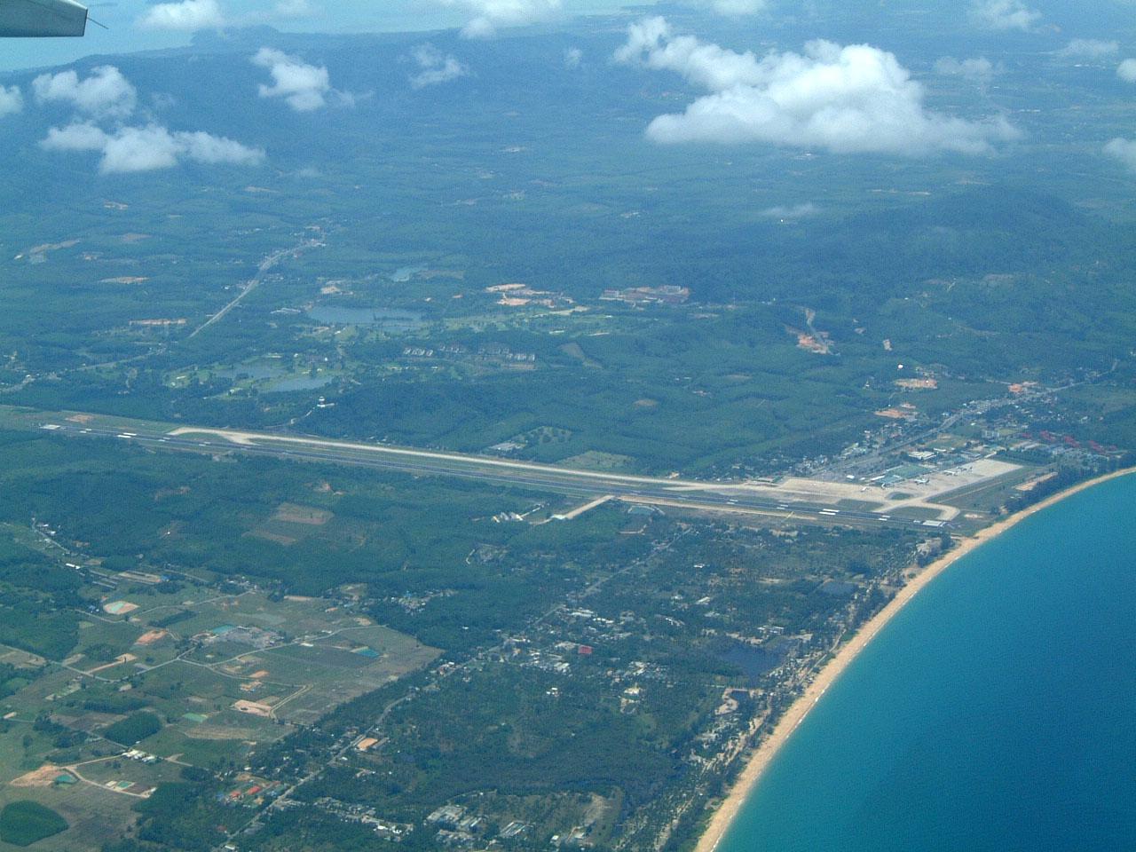Thailand Aerial view of Phuket International Airport Apr 2003 02