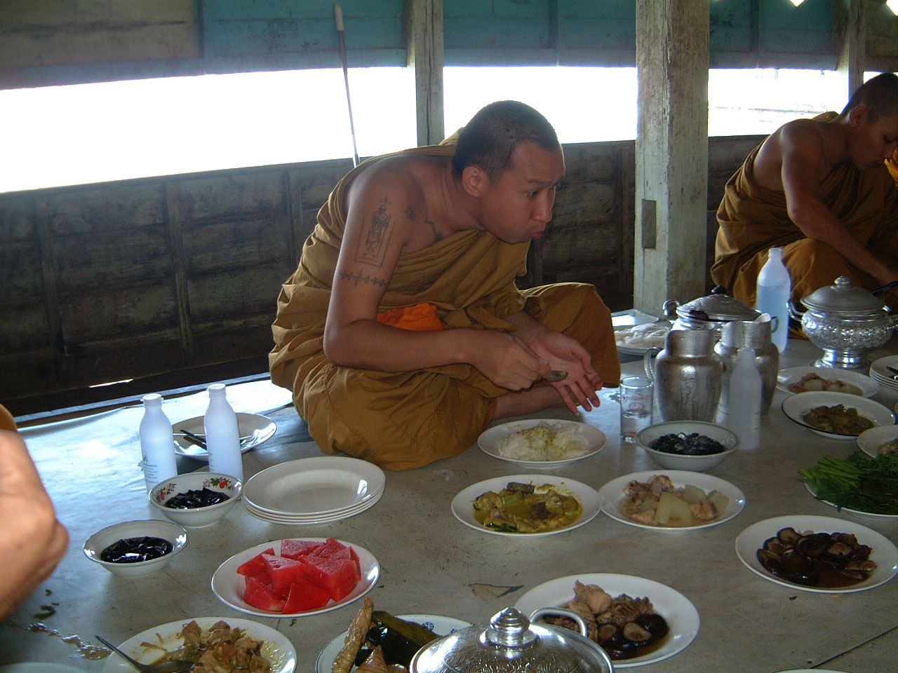 Buddhist Pilgrimage Southern Thailand dharma lunch 2001 03
