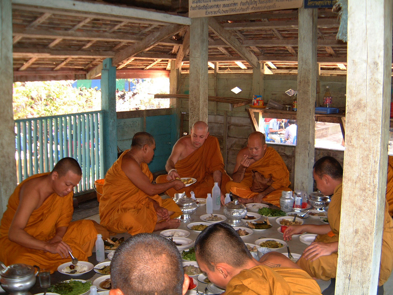 Buddhist Pilgrimage Southern Thailand dharma lunch 2001 06