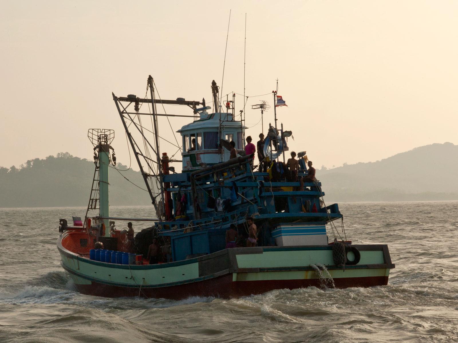 Thai fishing boat PSF 1267 Phuket Province Thailand 02