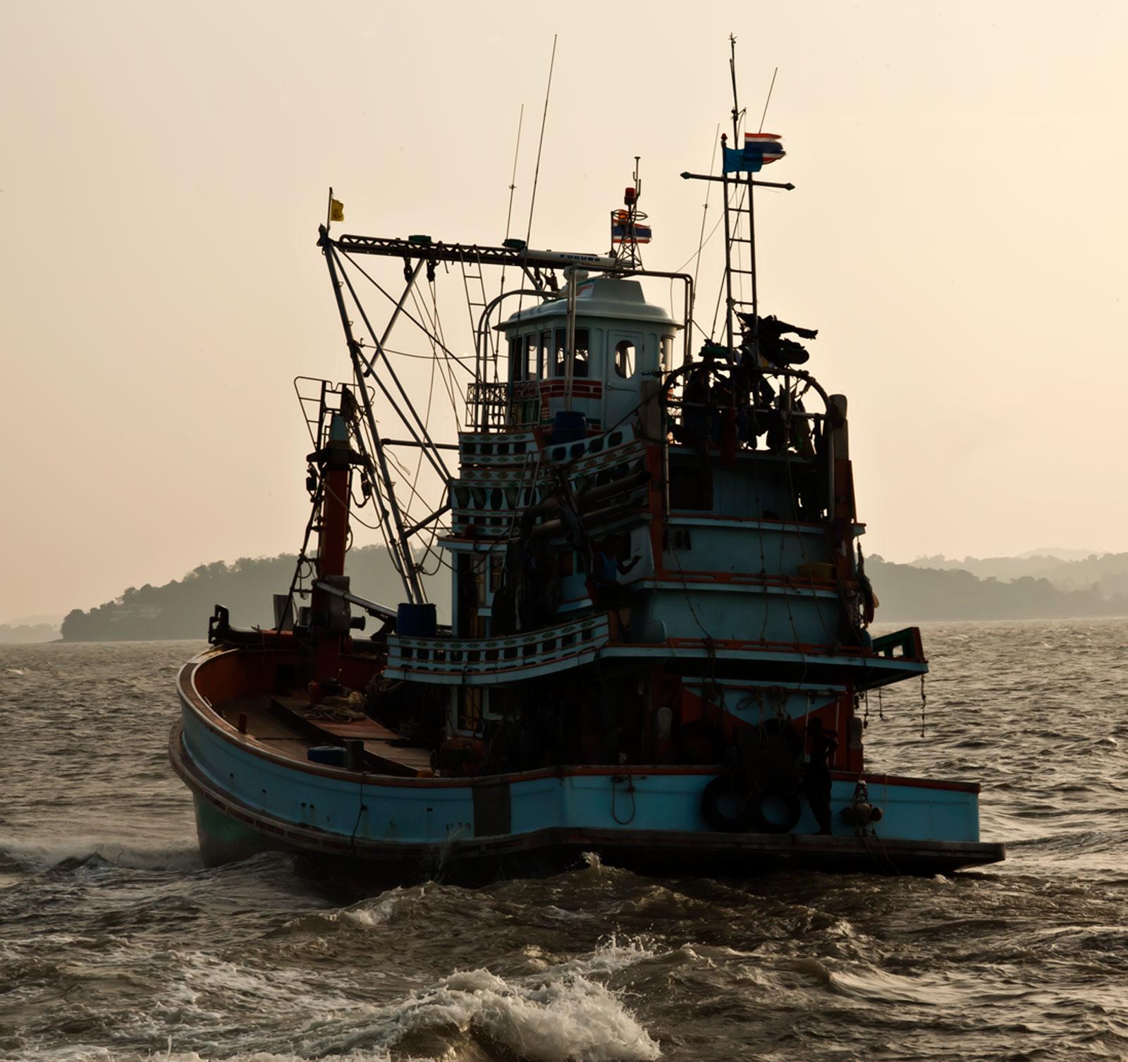 Thai fishing boat PSF 3274 Phuket Province Thailand 01