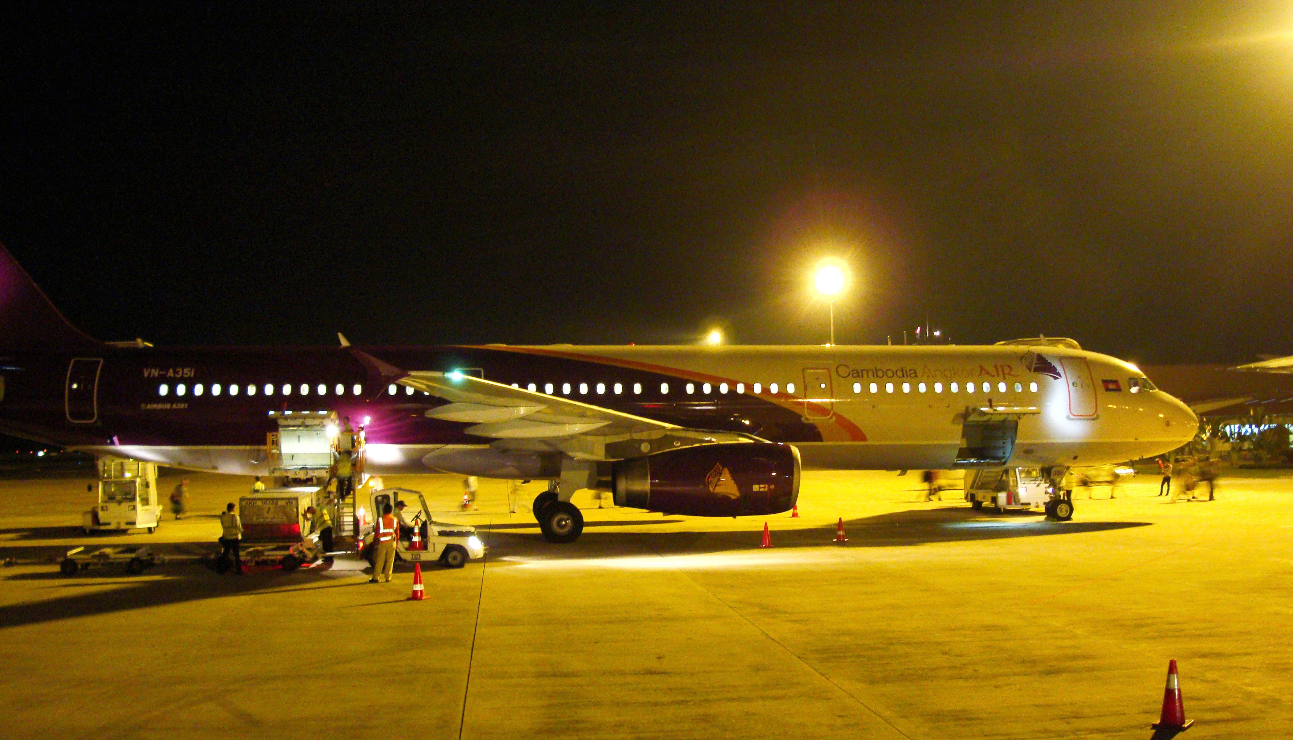 Cambodia Angkor Air VN A351 Suvarnabhumi Airport Thailand 2009 01