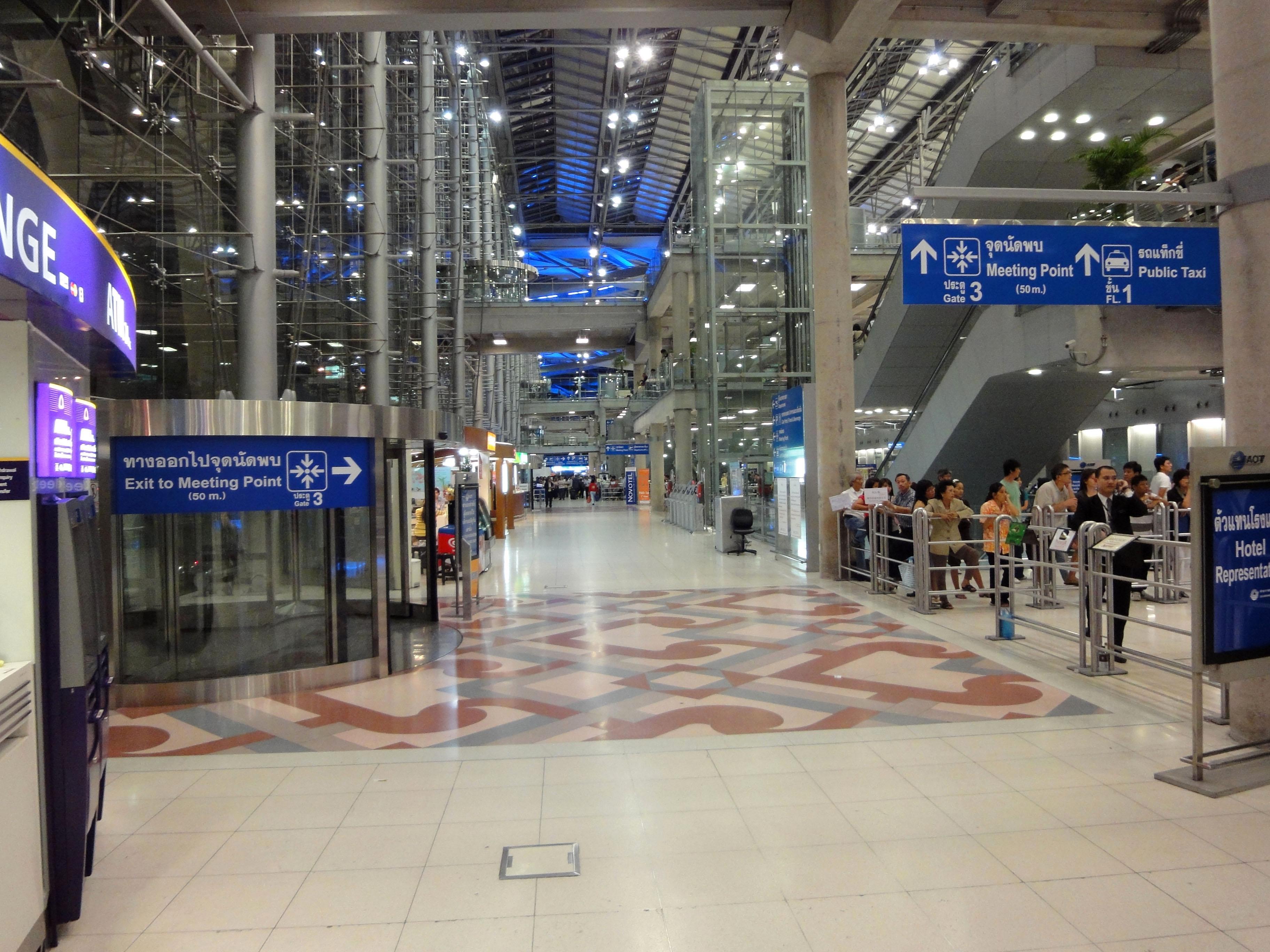 Passenger Terminal Suvarnabhumi Airport Thailand 2009 05