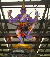 Asisbiz Churning of the Milk Ocean statue Suvarnabhumi Airport Thailand 2009 03
