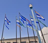 Asisbiz Fishermans Wharf Pier 39 entrance flags San Francisco Bay area CA 01