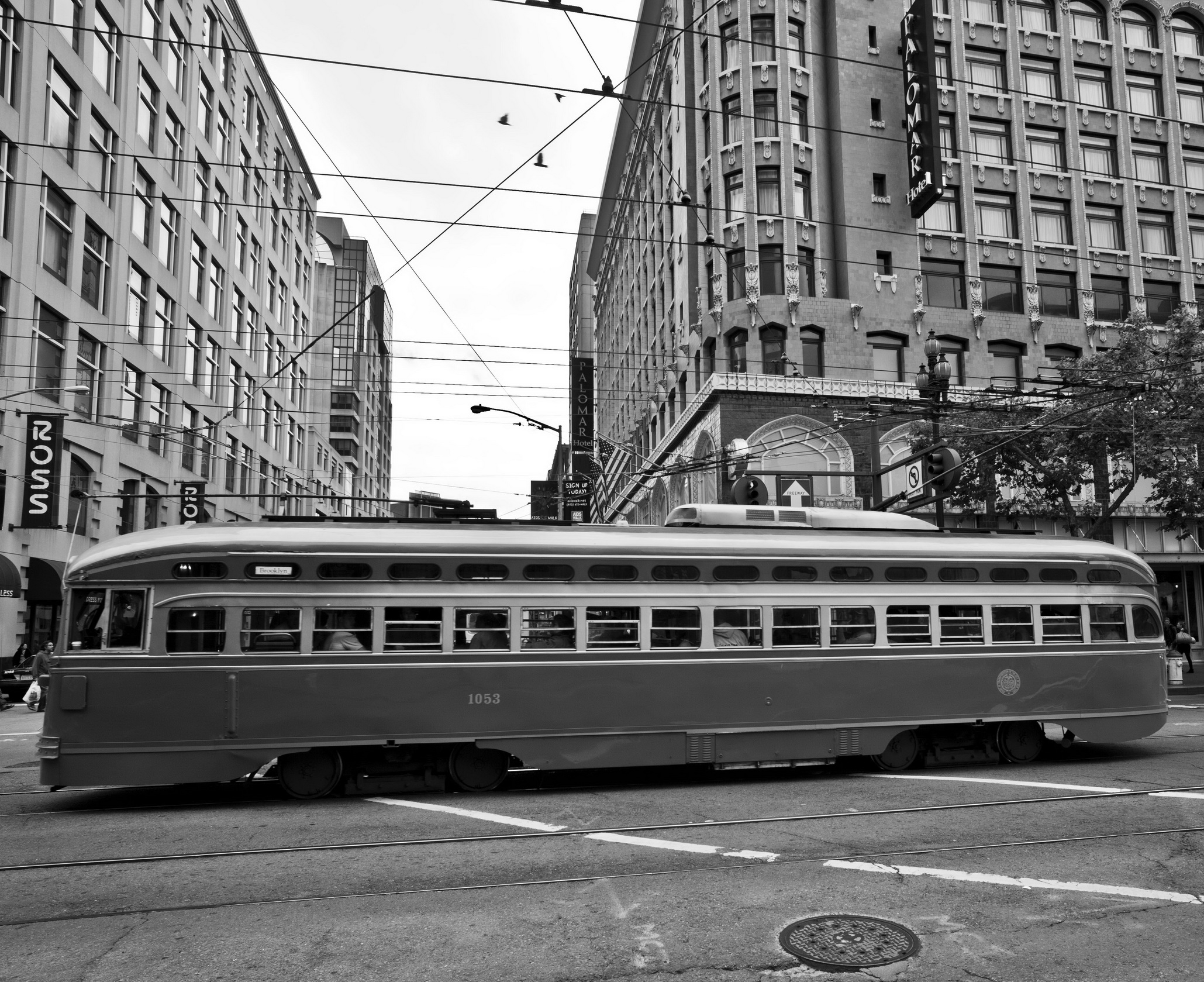 San Francisco Municipal Railway fleet PCC street car fleet cable car no 1053 10