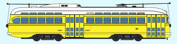 Baltimore, Maryland Railroad PCC No. 1063