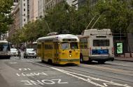 Asisbiz San Francisco Municipal Railway fleet PCC street car fleet cable car no 1063 01