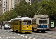 Asisbiz San Francisco Municipal Railway fleet PCC street car fleet cable car no 1063 02