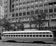 Asisbiz San Francisco Municipal Railway fleet PCC street car fleet cable car no 1075 03