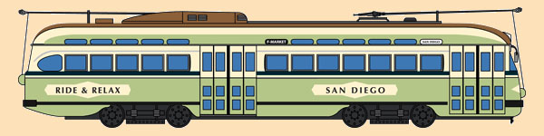 San Diego, California Railroad PCC No. 1078