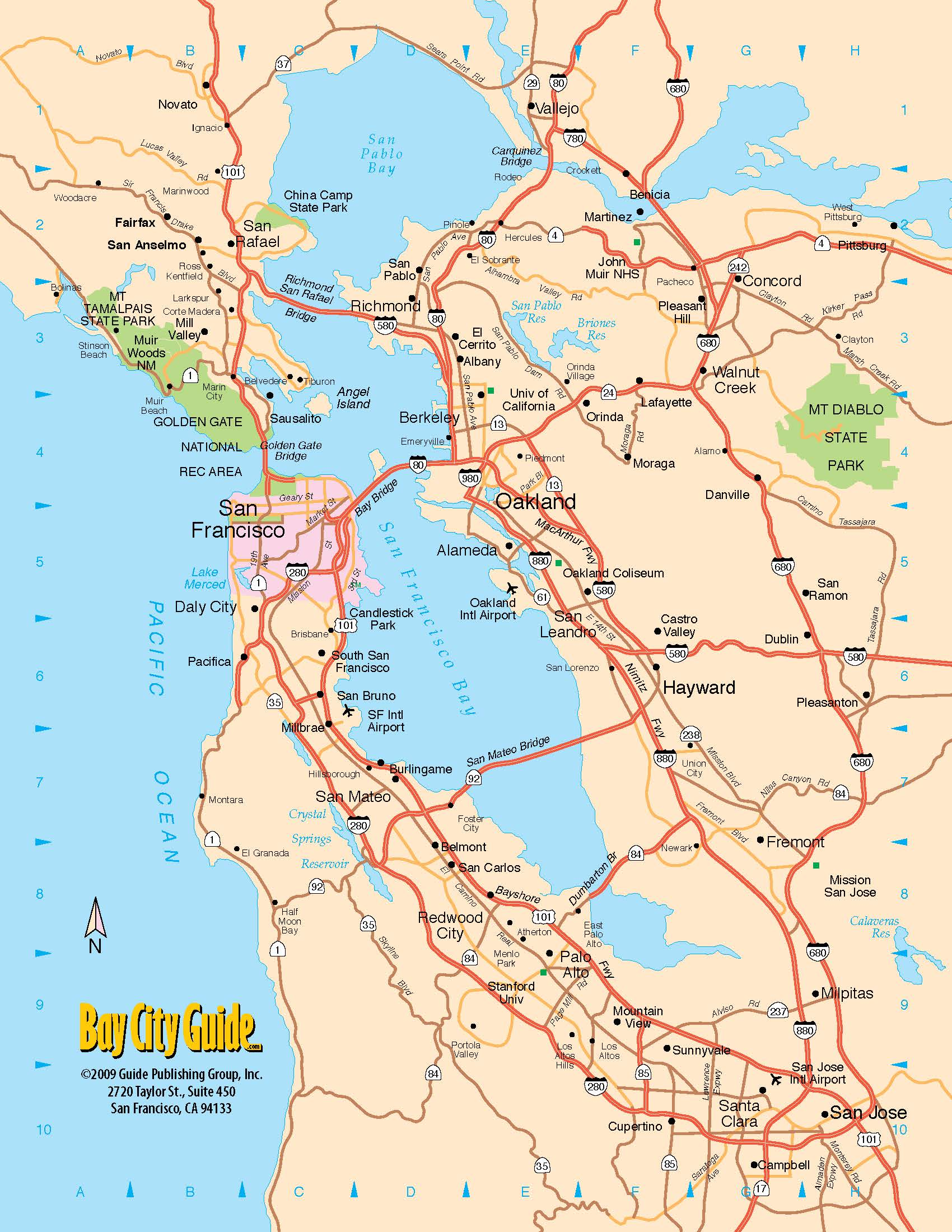 Asisbiz 0 Tourist Map San Francisco Bay Area North California Freeway System 0b The default map image, without image: or file asisbiz 0 tourist map san francisco bay