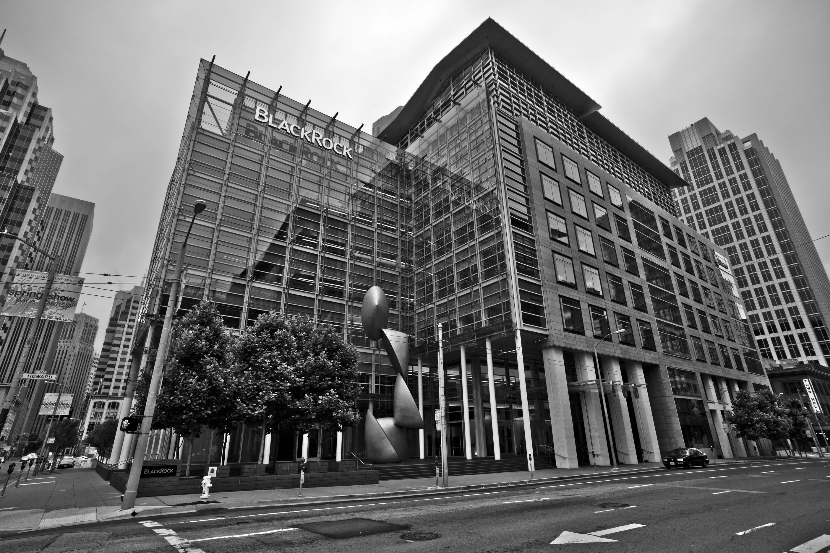 Architecture Blackrock and iStock Bldg cnr Howard and Fremont St San Francisco CA July 2011 02