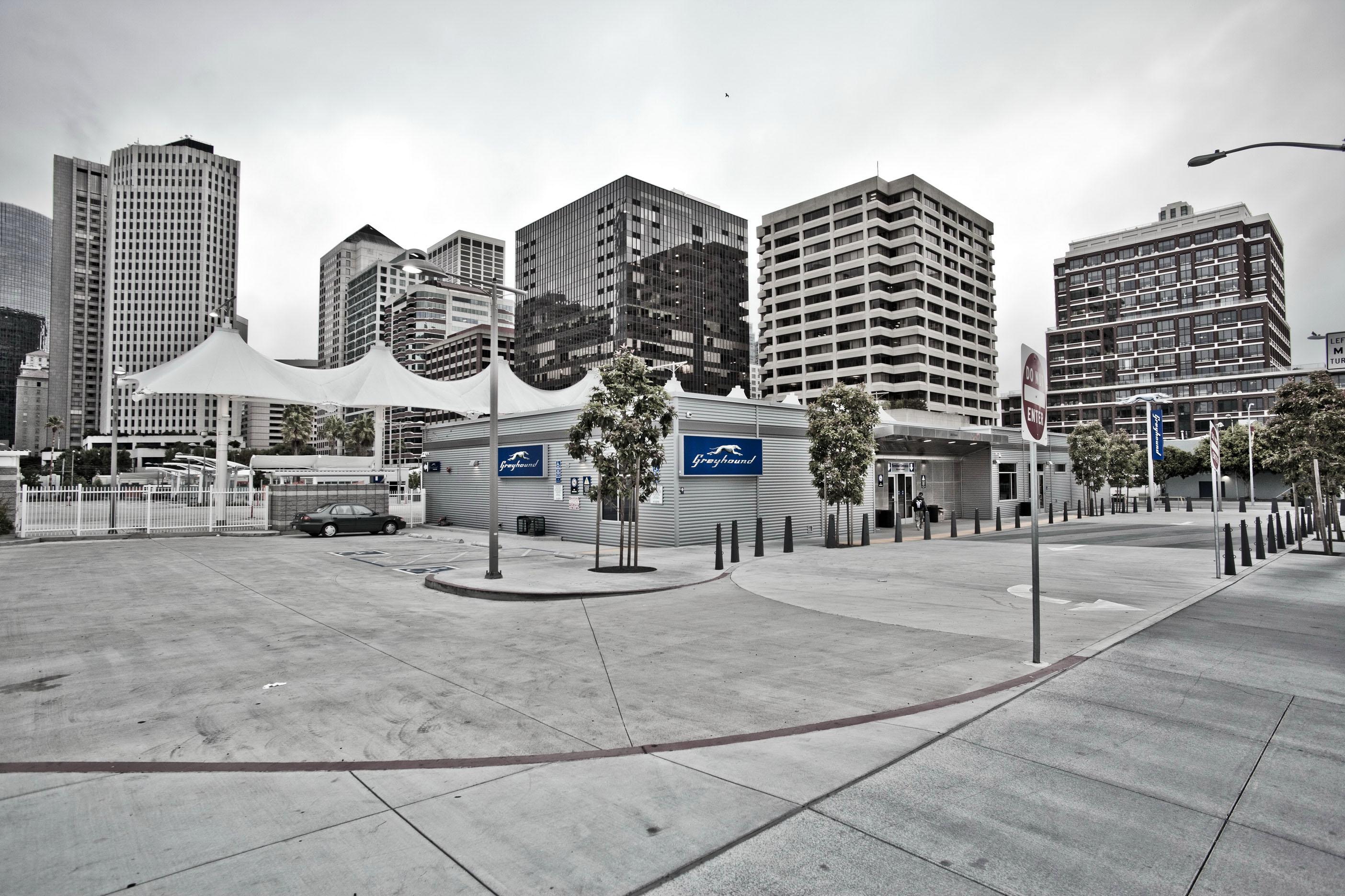 Architecture Grayhound Terminal along Folsom St San Francisco CA July 2011 02
