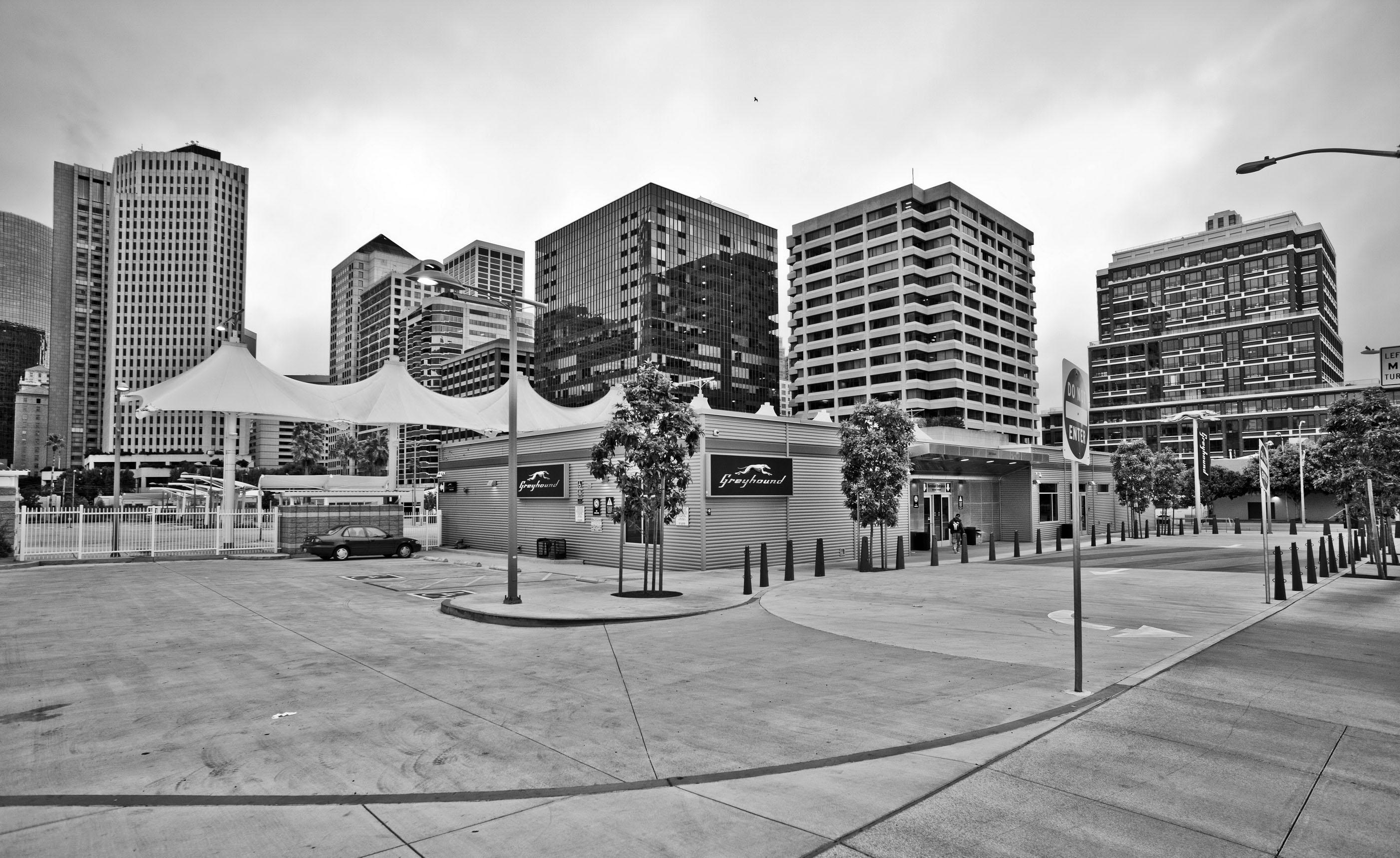 Architecture Grayhound Terminal along Folsom St San Francisco CA July 2011 03
