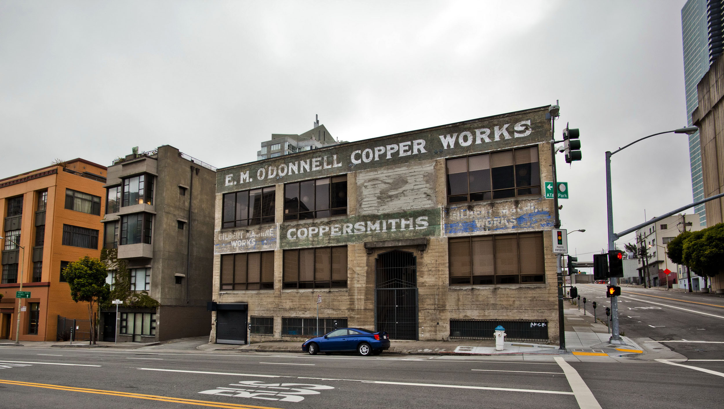 Architecture along Folsom St EM O Donnell Copper Works Coppersmiths Bldg San Francisco CA 01