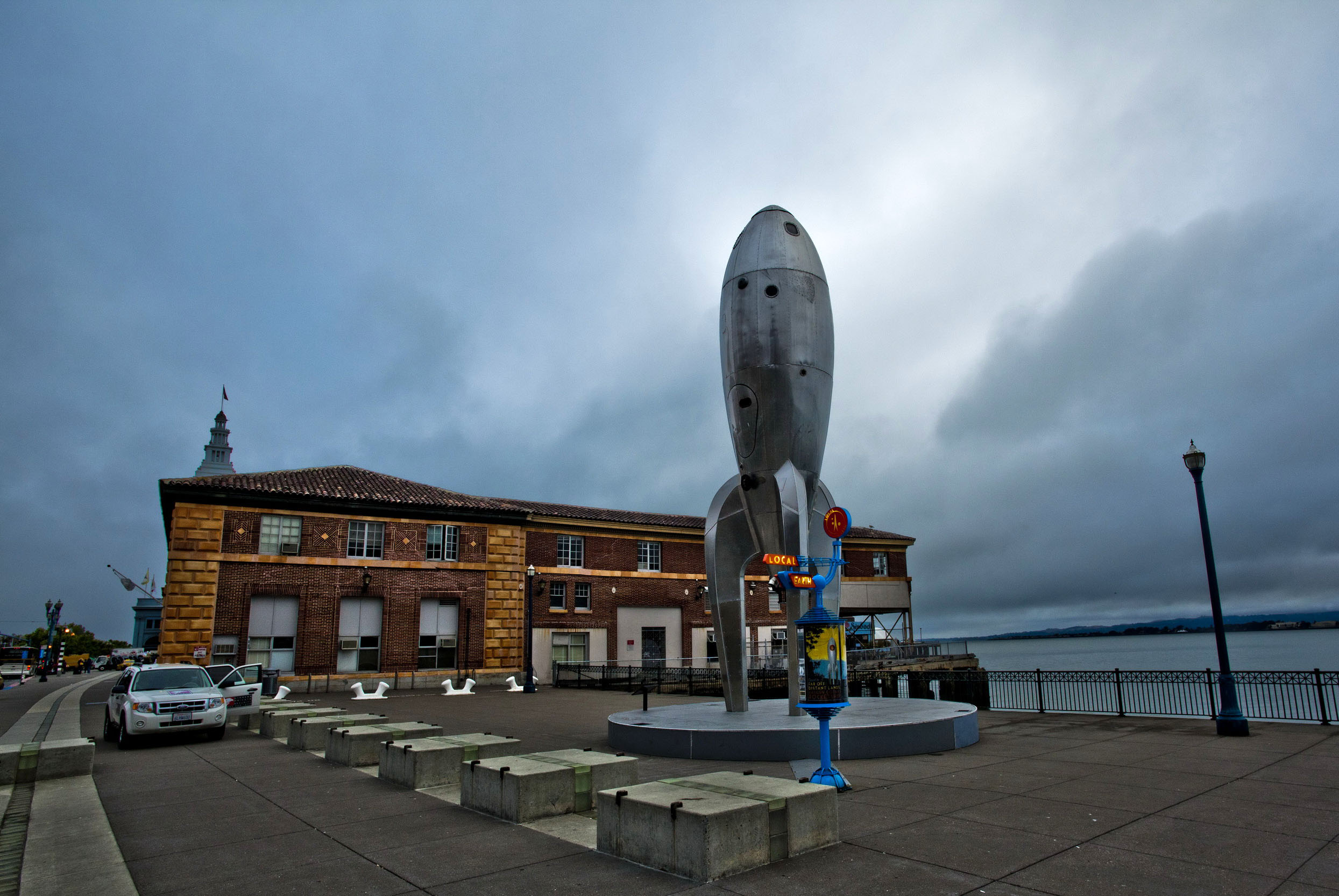The Embarcadero Rincon Park area Space ship monument CA July 2011 06
