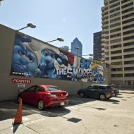 Asisbiz Advertising billboard The Smurfs along Folsom St San Francisco CA July 2011 01