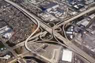 Asisbiz Taken at 2,000 feet the iconic American Freeway system Harbor Fwy 110 and Gardena Fwy California 01