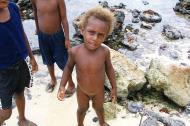 Asisbiz Kids playing on the reef Espiritu Santo Vanuatu 05