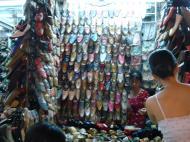 Asisbiz HCMC Ben Thanh Markets shoe stalls Nov 2009 01