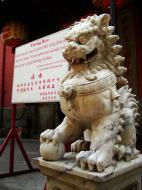 Asisbiz HCMC Phuoc Hai Jade Emperor Pagoda Lion Guardians Nov 2009 01