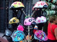 Asisbiz Vietnam Ho Chi Minh City motorbike helmet fashion Feb 2009 01
