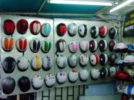 Asisbiz Vietnam Ho Chi Minh City motorbike helmet fashion Feb 2009 03