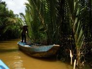 Asisbiz Mekong Delta Saigon River cruise 4th stage canoe Nov 2009 03