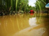 Asisbiz Mekong Delta Saigon River cruise 4th stage canoe Nov 2009 09